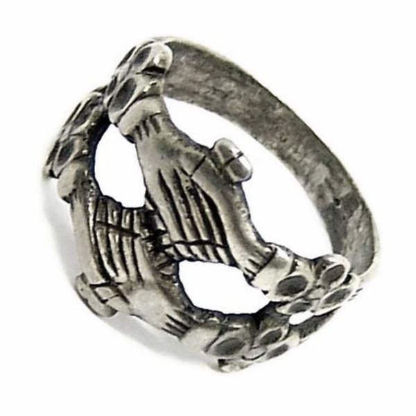 Medieval engagement ring, silvered