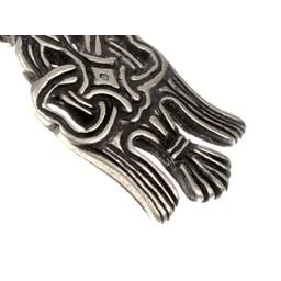 10. Jahrhundert Rusvik Rabe Amulett, versilbert