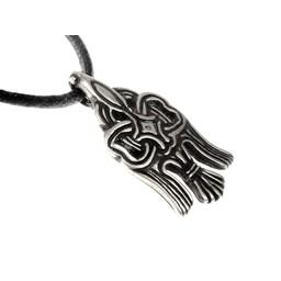 10. århundrede Rusvik raven amulet, forsølvede