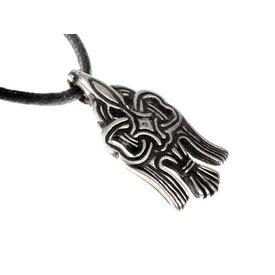 10. wieku Rusvik Raven amulet, posrebrzane