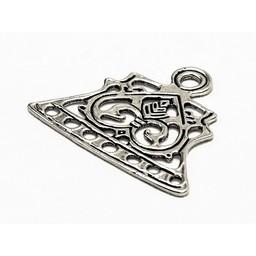 Viking biżuteria dzielnik Łotwa, posrebrzane