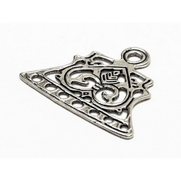Viking jewelry divider Letland, silvered