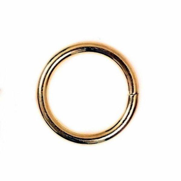 anello chiuso, S, argentato