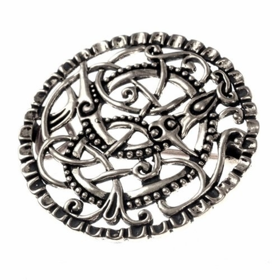Pitney broche, forsølvet bronze