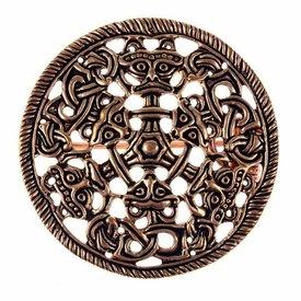 Borre stil skive fibula, bronze