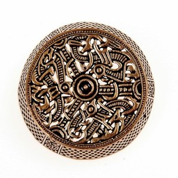 Gotland drum brooch, bronze