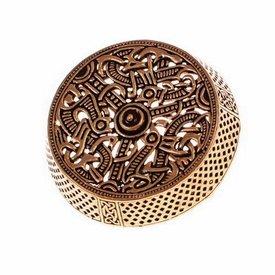 Gotland tambor broche, bronce