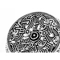 Gotland tamburo spilla, bronzo argentato