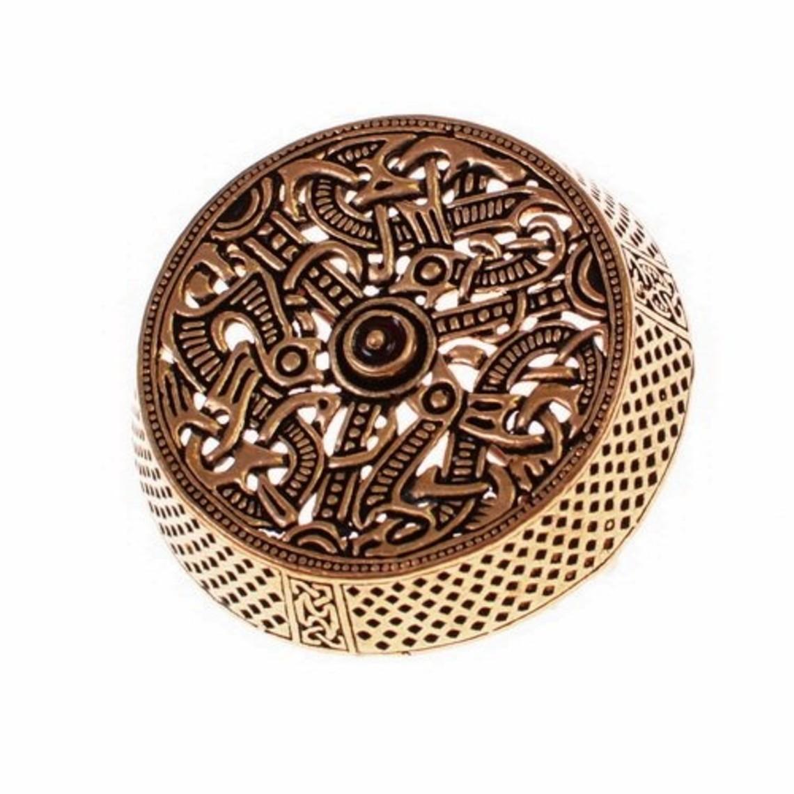 Gotland drumbroche, verzilverd brons
