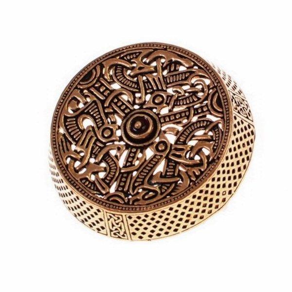 Gotland tromle broche, forsølvet bronze