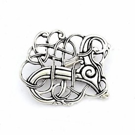Viking brooch Lindholm Hoeje, silvered