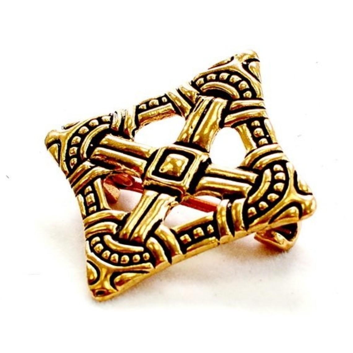 Viking cruz peroné Uppåkra, bronce