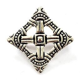 Viking cross fibula Uppåkra, silvered