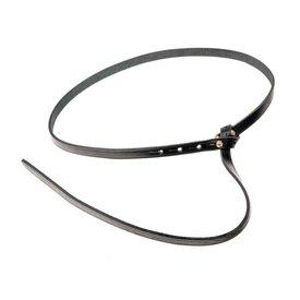 Ceinture celtique de La Tène avec crochet de ceinture, noir