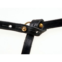 Celtic La Tene belt with belt hook, black