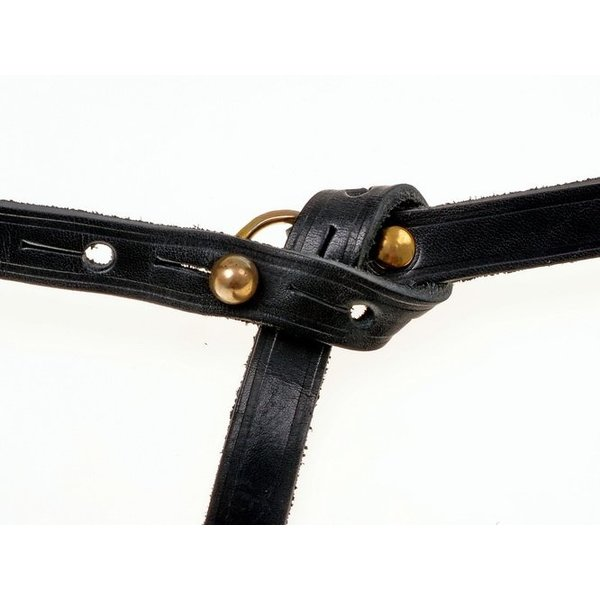 Celtic La Tene belt with belt hook, black