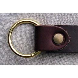 cinturón anillo de cuero 4 cm, negro