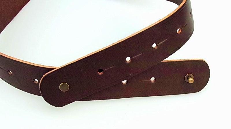 Corset belt Bertholdin A knot motif, brown leather