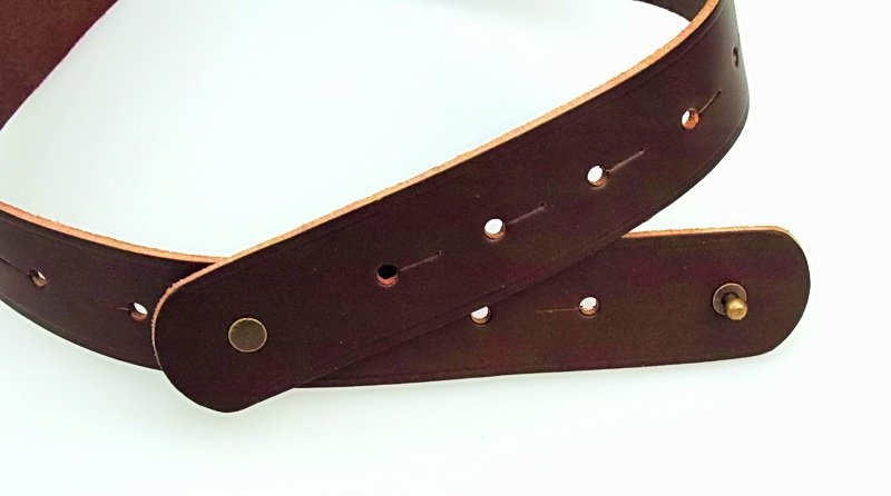 Corset belt Bertholdin A knot motif, black leather
