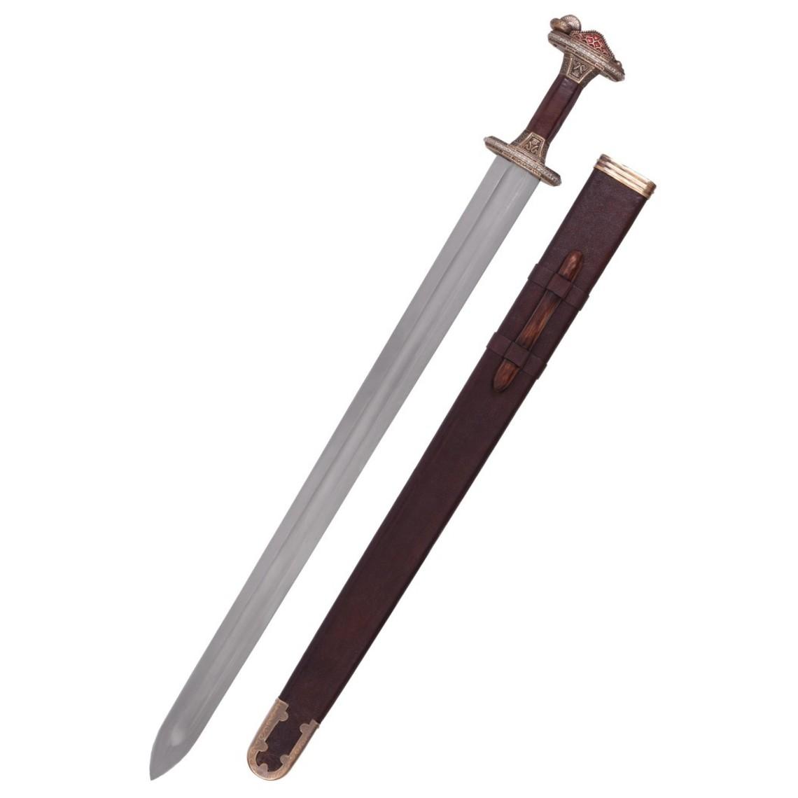Deepeeka Vendel spada Uppsala settimo-ottavo secolo, impugnatura in ottone