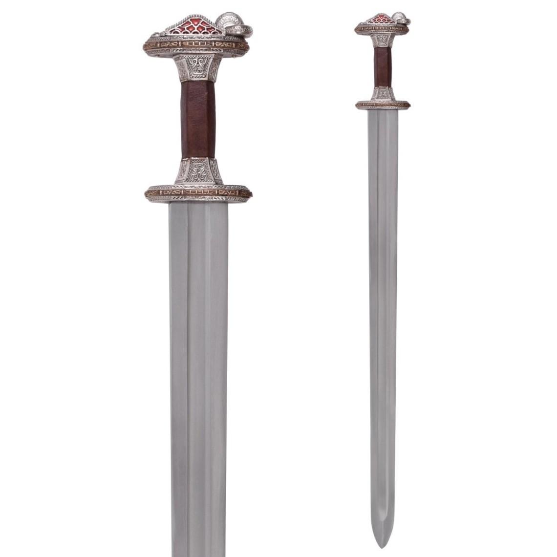Deepeeka Vendel svärd Uppsala 7th-8: e århundradet, förtennad handtaget