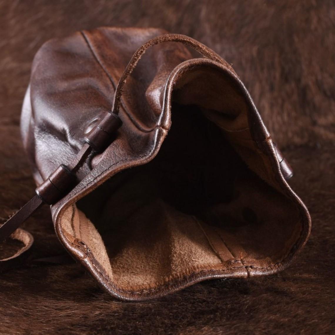 Deepeeka Duży Leather Pouch Oslo