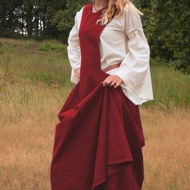Średniowieczna surcotte Isabeau, czerwona