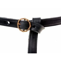 cinturón siglo 15 Anjou, negro