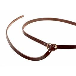 14th-15th century belt Beaufort, brown