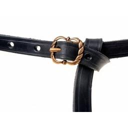 Mittelalterlicher Gürtel Neville, schwarz