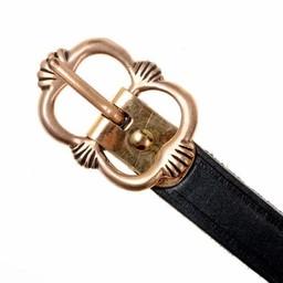 cinturón medieval Salisbury, negro