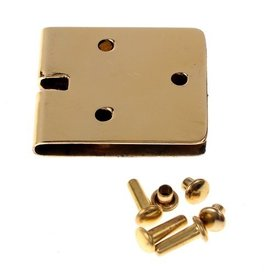 Bælte plade 3 cm, bronze