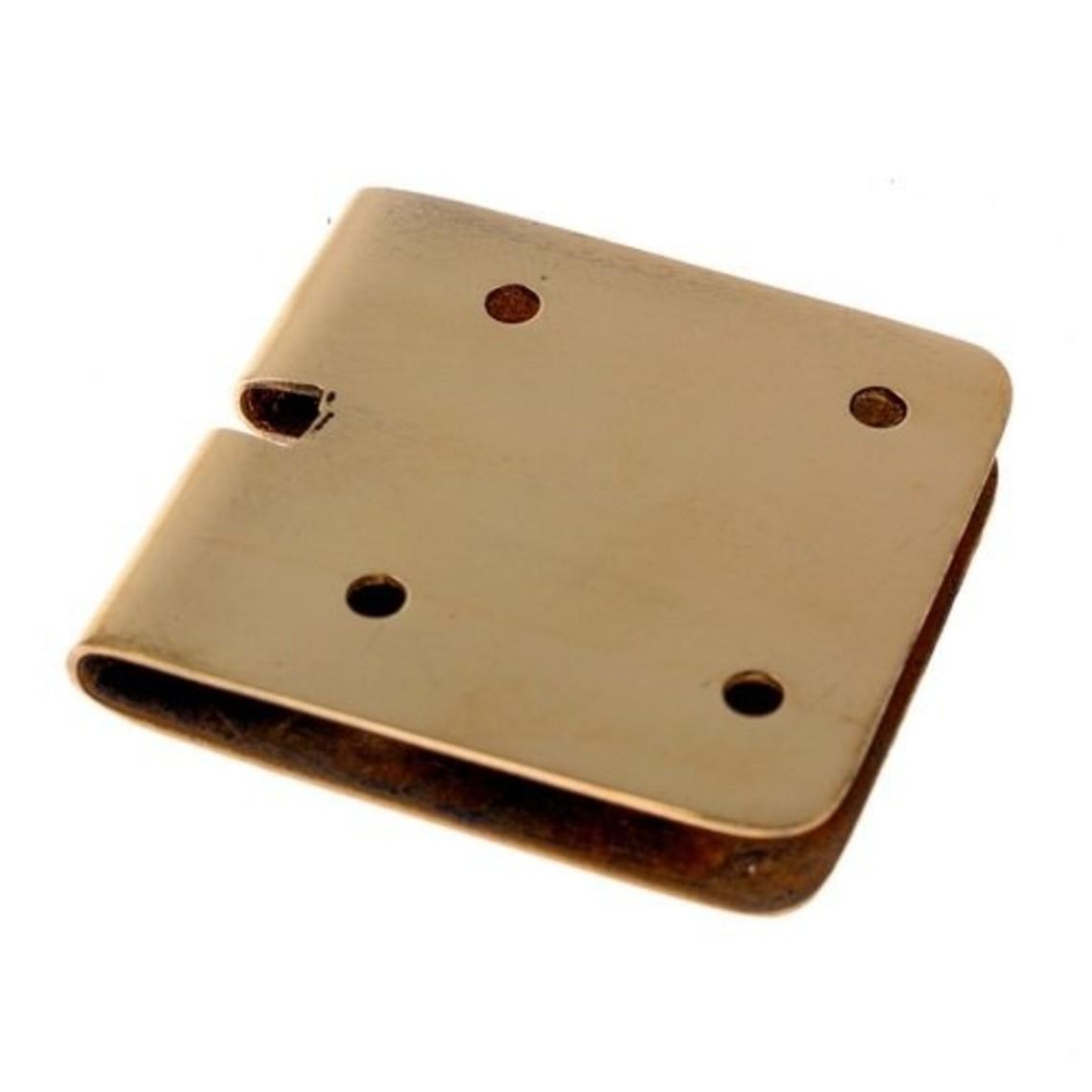 placa de la correa 4 cm, bronce