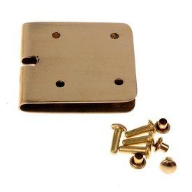 Bælte plade 4 cm, bronze