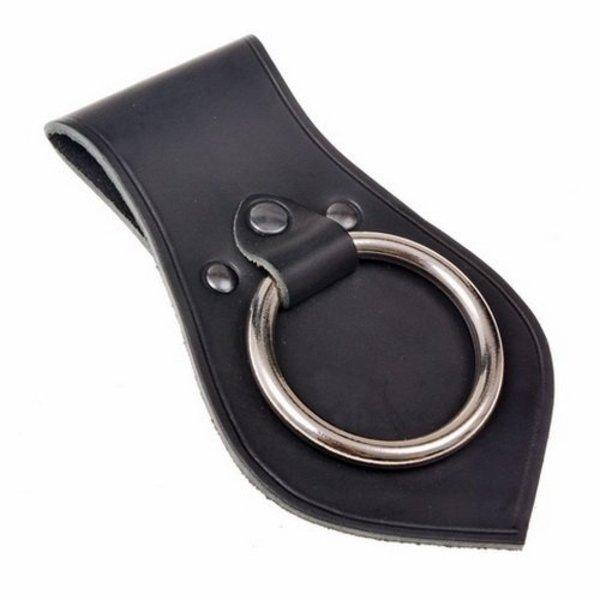 soporte de las armas cuero para la correa, negro