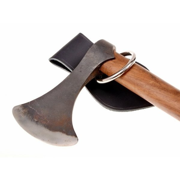 Leather weapon holder for belt, black