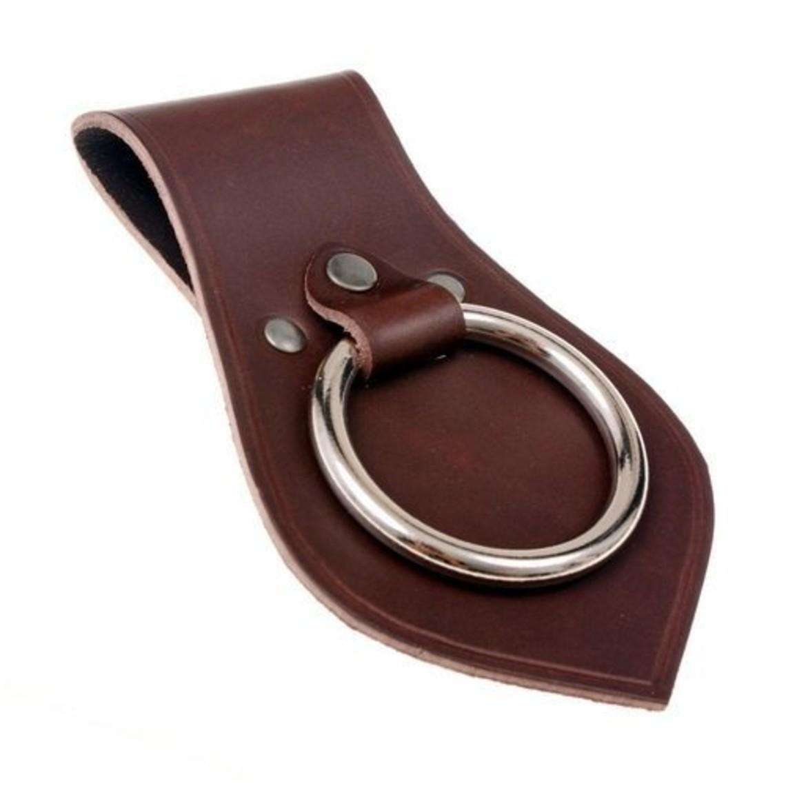 Porte d'arme en cuir pour ceinture, brun