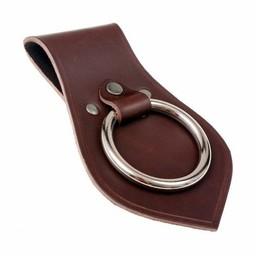 Läder vapenhållare för bälte, brun