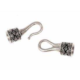 Viking halsband lås 4 mm, försilvrade brons