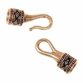 Viking halsband lås 5 mm, brons