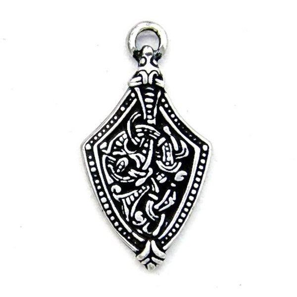 Viking juvel Borre stil skidan slut, försilvrade