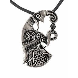 Vendel raven jewel silvered