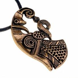 Vendel raven jewel, brass
