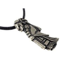 Viking Valkyrie jewel silvered