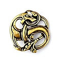 Viking amuleto dragón de bronce