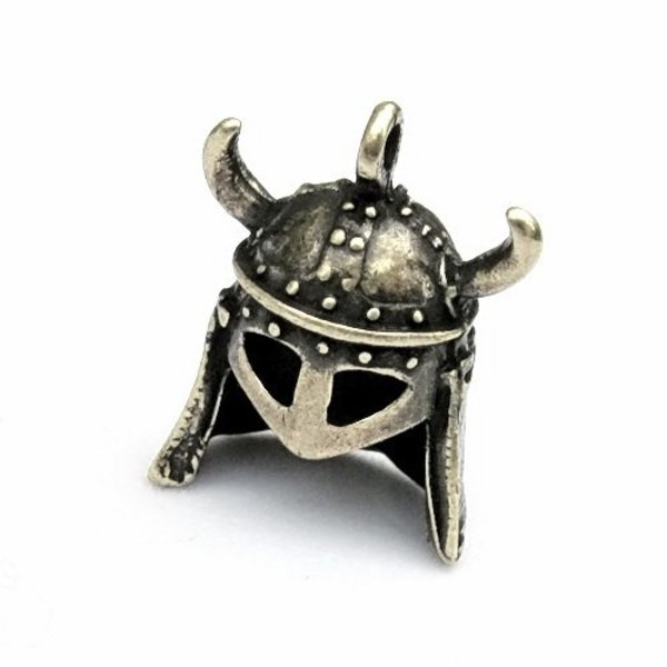 Jewel Horned Viking Helmet Silvered