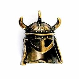 Jewel horned Viking helmet brass