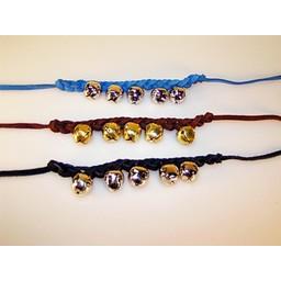 Medieval bracelet with bells, blue