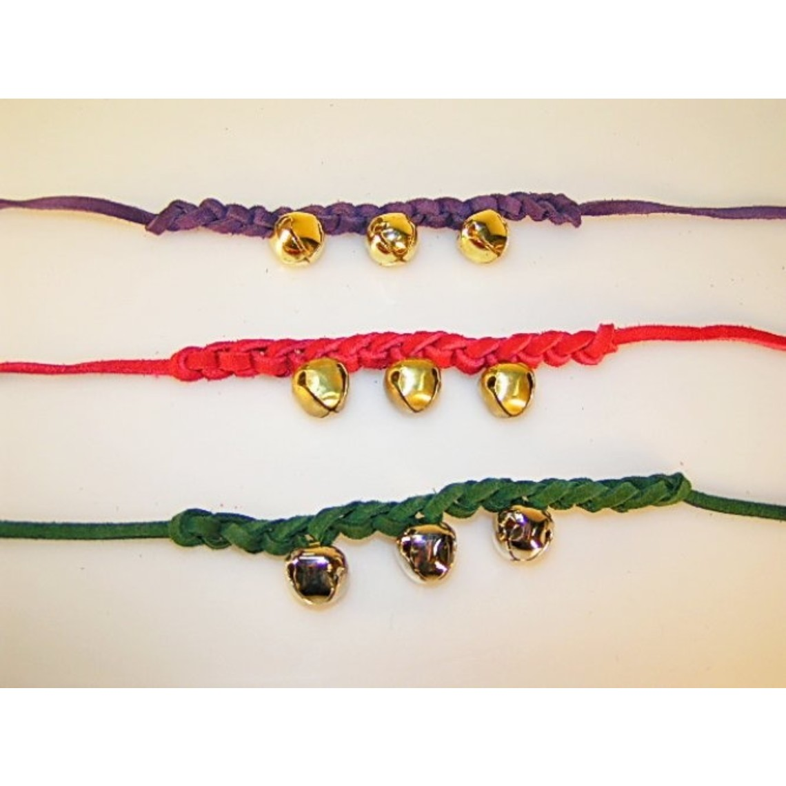 Mittelalterliche Glocke Armband lila