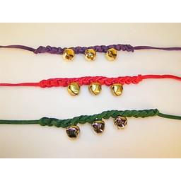Medieval bell bracelet red